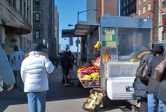 Hala Carts at the corner of Broadway and 168th Street
