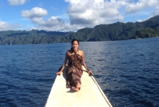 Stephanie Lucas on Coron Island