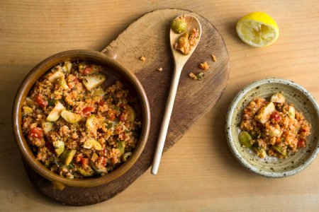 Bulgur with Brussels Sprouts Photo by Andrew Scrivani for The New York Times