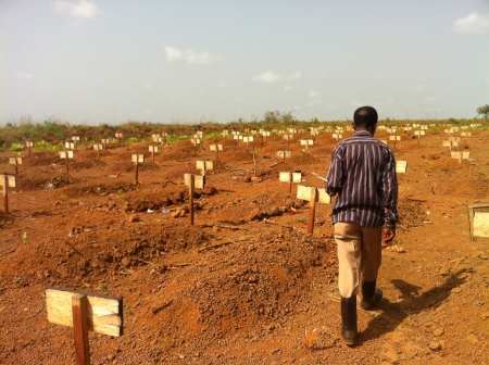 Graves for Ebola victims